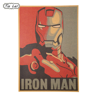 Marvel Retro Style Iron Man Poster