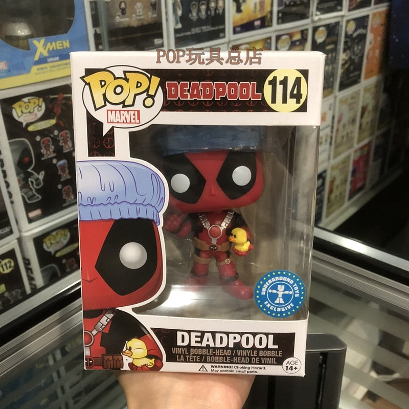 Exclusive Funko pop Marvel: Bath Time Deadpool Vinyl Action Figure