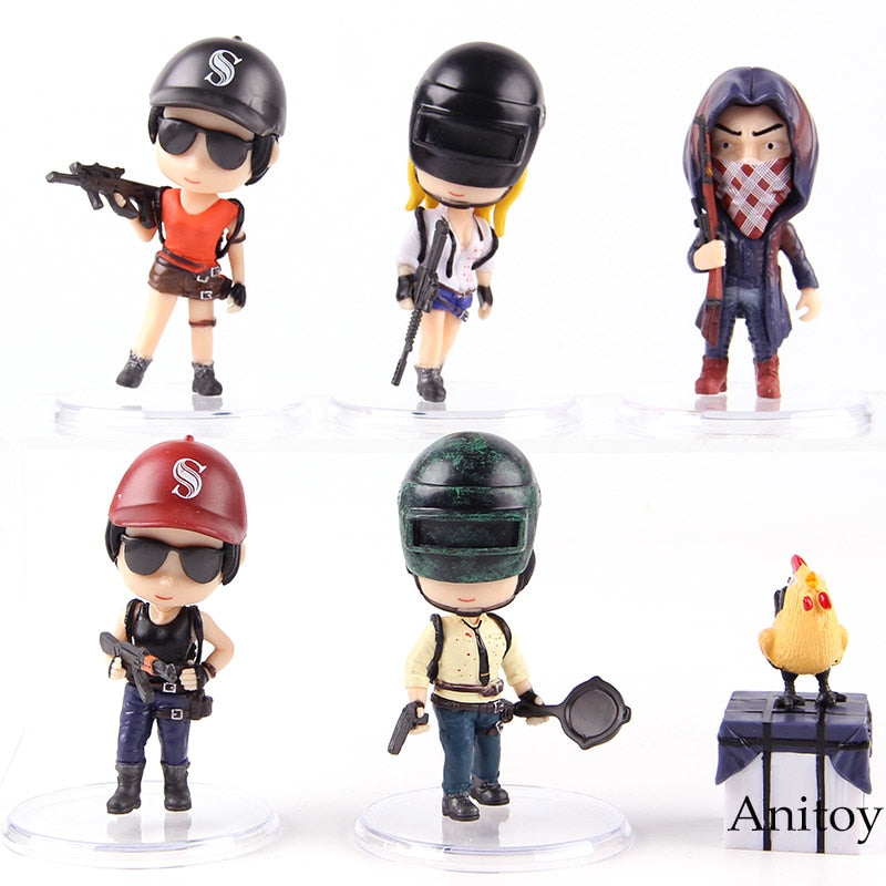 Playerunknown's BattleGrounds PUBG PVC Action Figures 6pcs/set