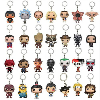 Assorted Pop Keychain Collectibles