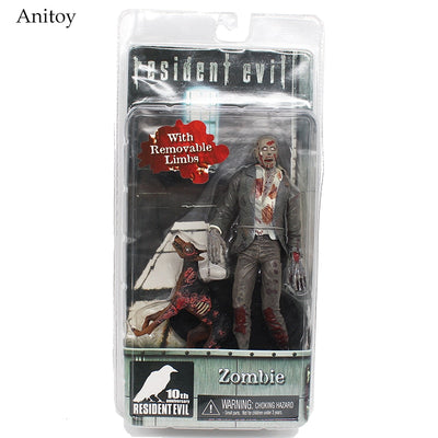 Resident Evil Zombie Action Figure and Dog with Removable Limbs 18cm