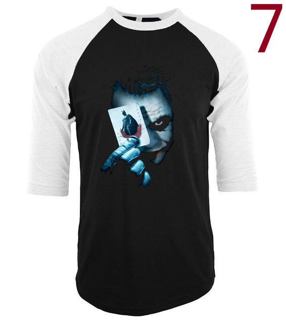 The Joker 3 quarter sleeve t shirt