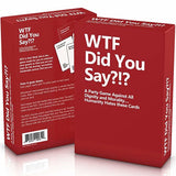 WTF Did You Say?!?, A Party Game Against All Dignity and Morality, Set of 594 Cards