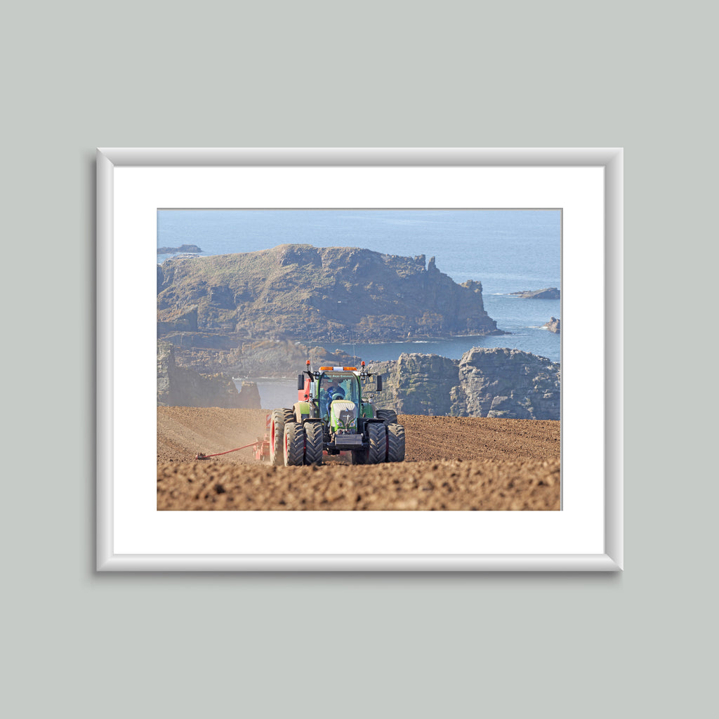 8x6 Mounted Print - Fendt Sowing On The Coast