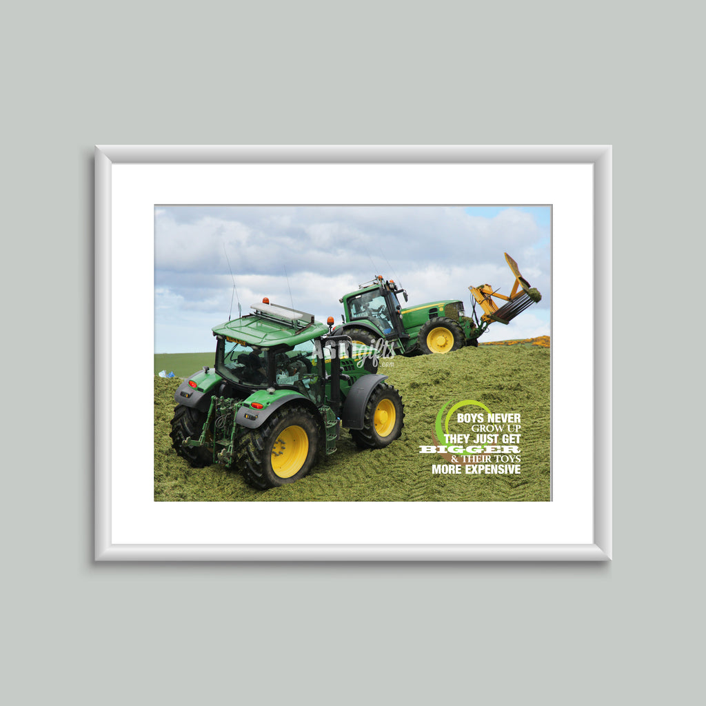 8x6 Mounted Print - Silage Pit With Quote