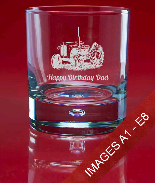 Engraved Whisky 305ml Bubble Glass In Gift Box - Image & Text (Images A1 - E8)