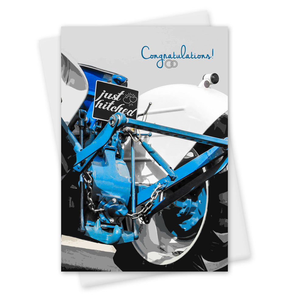 Congratulations Wedding Card 'Just Hitched'