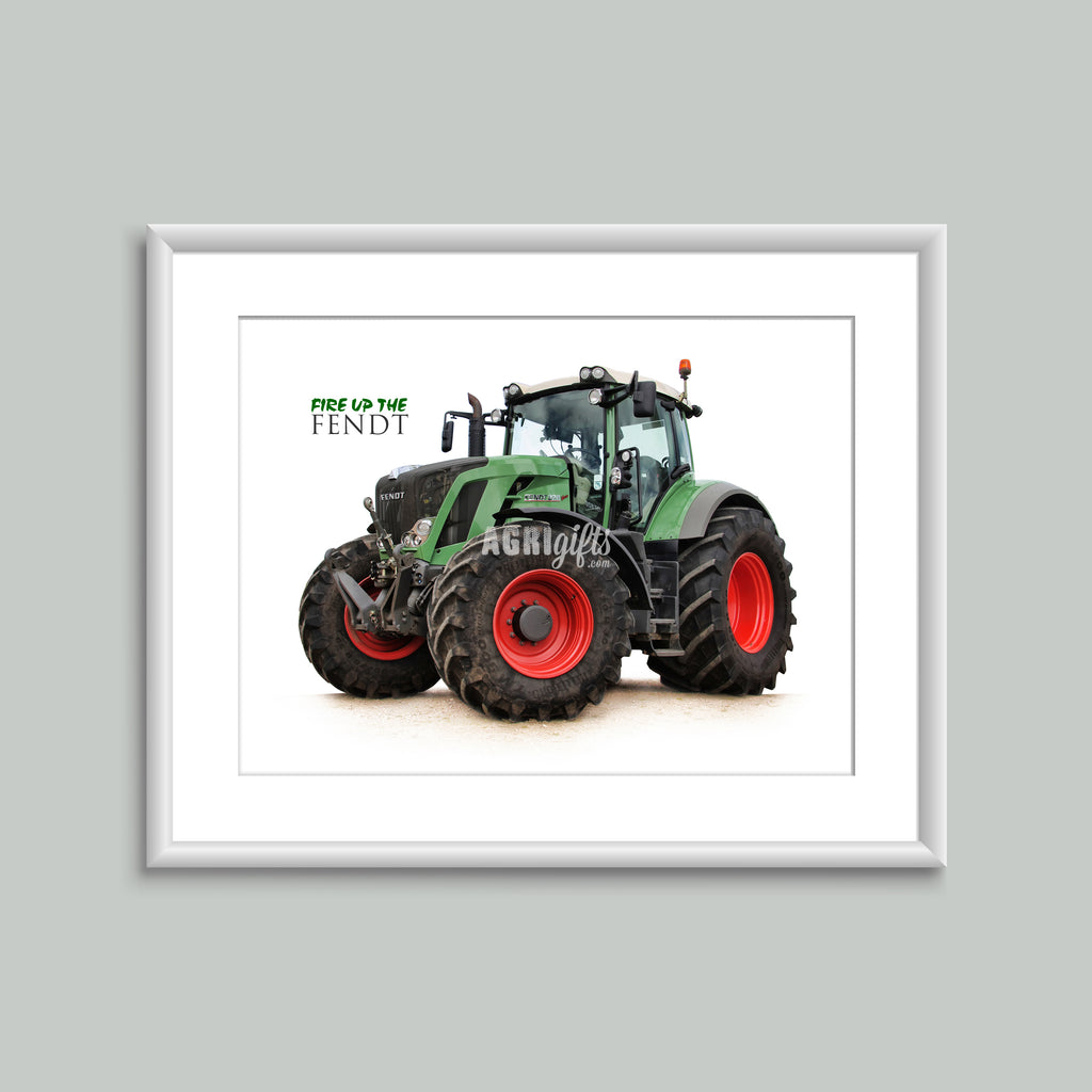 8x6 Mounted Print - 'Fire Up The Fendt' Fendt 828
