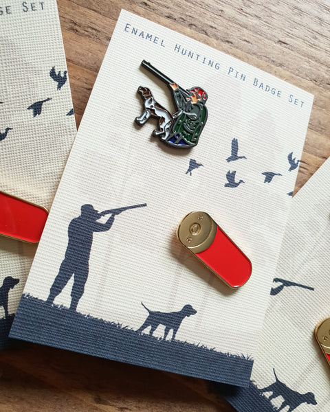 Enamel Badge Pin Gift Card, Gun Dog/Shooting/Hunting