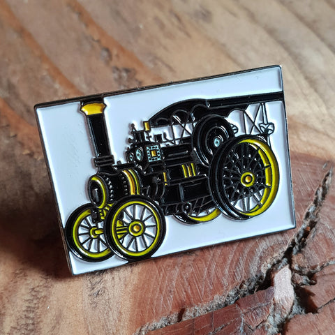 Enamel Traction Engine Badge Pin