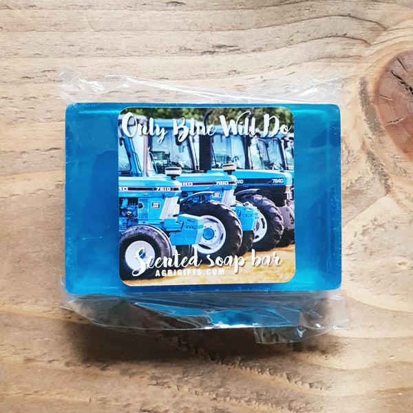 Bar of 'Only Blue Will Do' Scented Soap