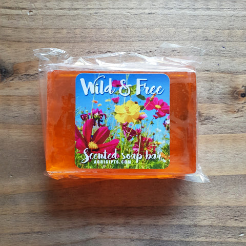 Bar of 'Wild & Free' Scented Soap