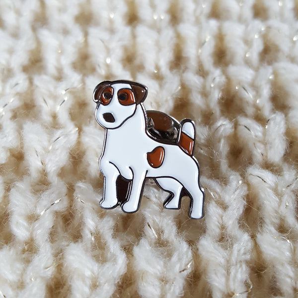 Enamel 'Jack Russell' Badge Pin
