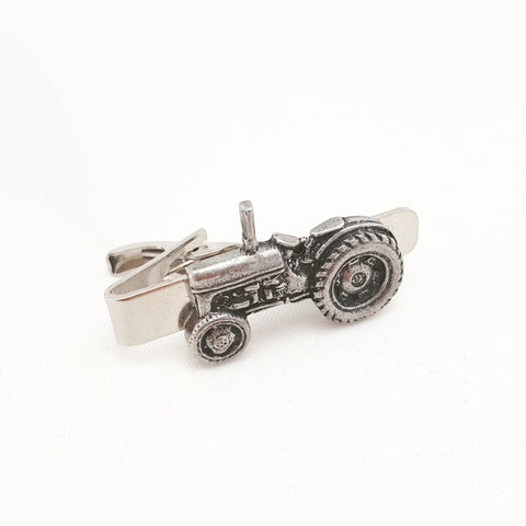 Solid Pewter Tractor Tie Clip