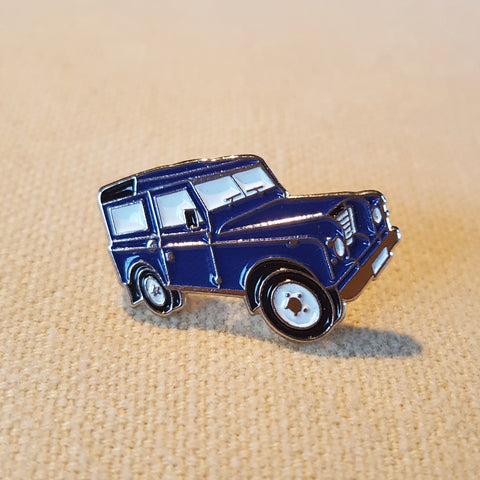 Enamel 'Blue Land Rover' Badge Pin
