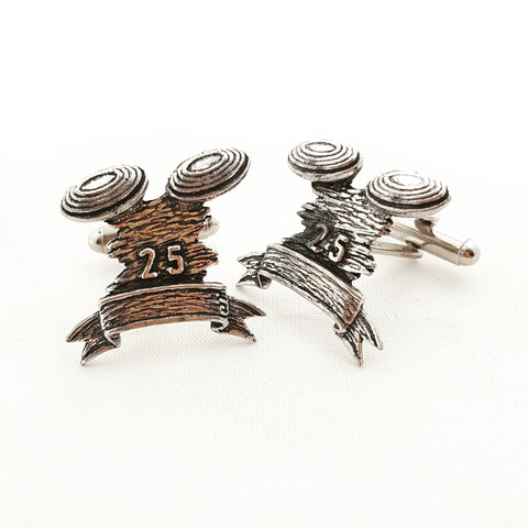 Solid Pewter Giftboxed Cufflink Set - Clay Pigeons