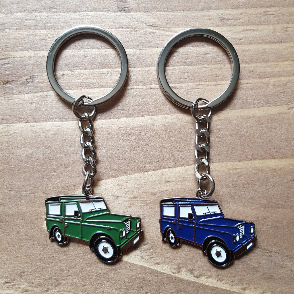 Enamel Land Rover Keyrings - Choice of colours