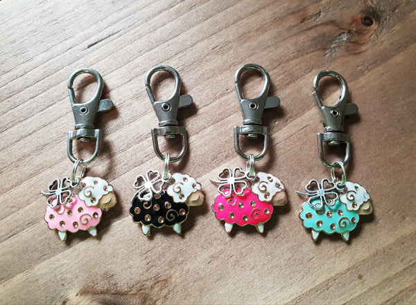 Enamel 'Lucky Sheep' Charm Clip in a Choice of Colours!