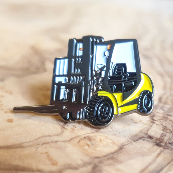 Enamel 'Fork Lift' Badge Pin