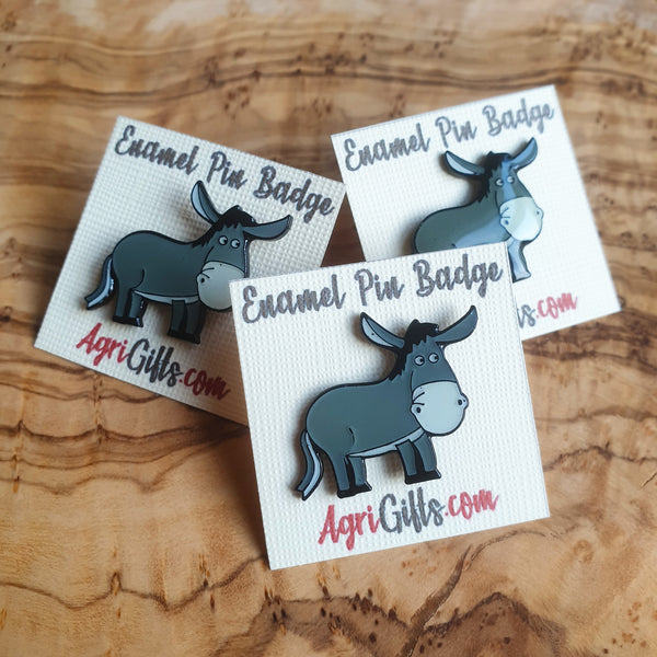 Enamel Donkey Badge Pin