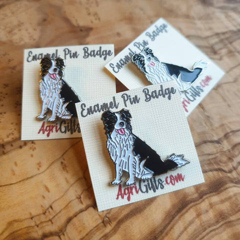 Enamel 'Collie Dog' Badge Pin