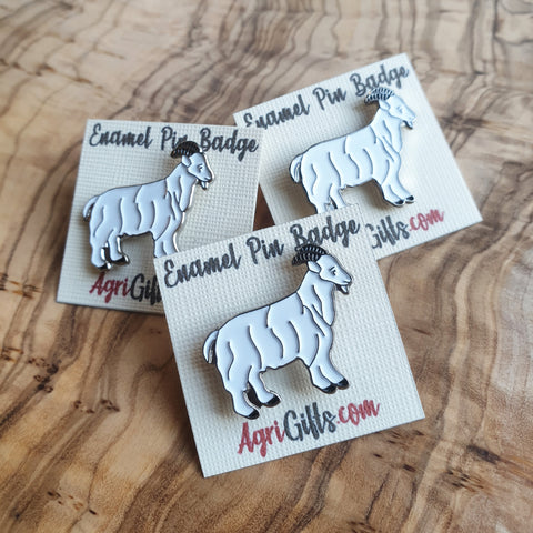 Enamel Goat Badge Pin