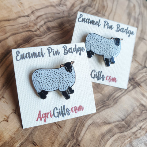 Enamel Sheep Badge Pin