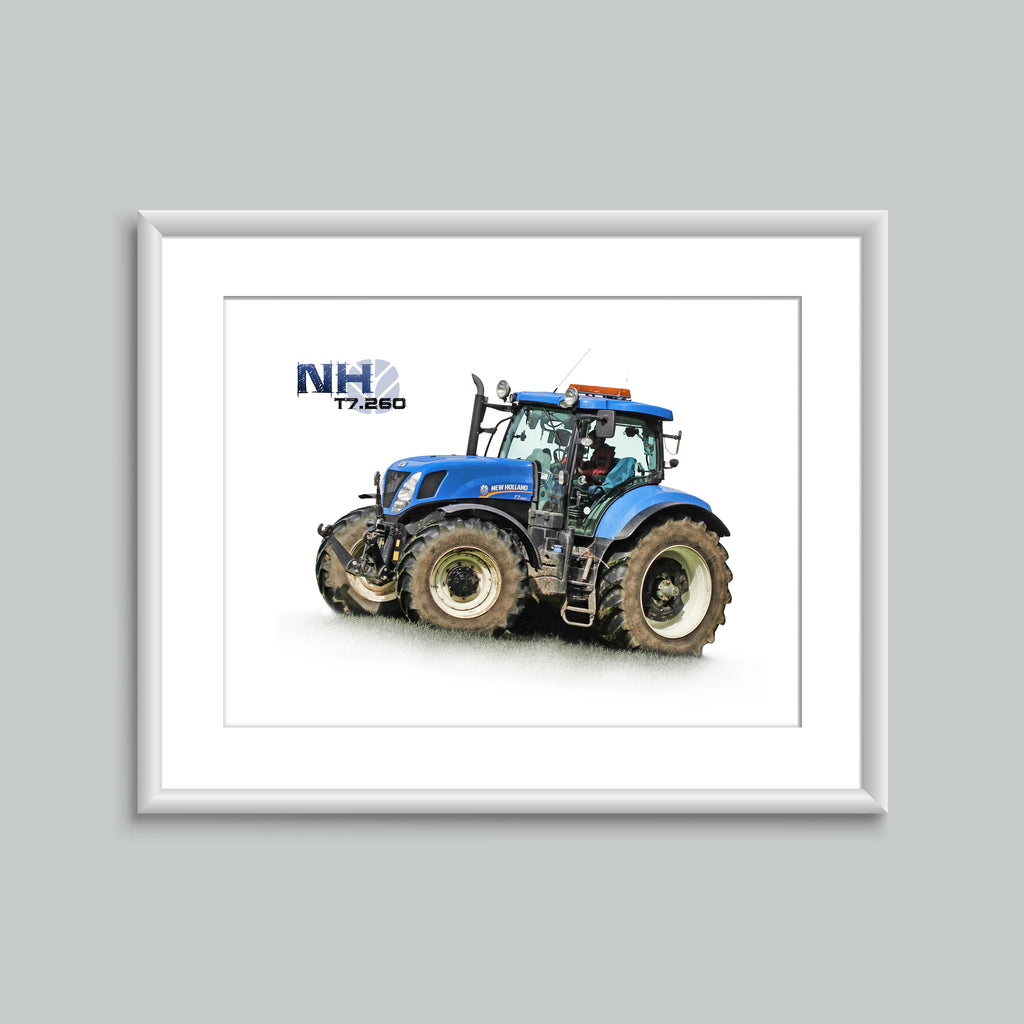 8x6 Mounted Print - New Holland T7.260