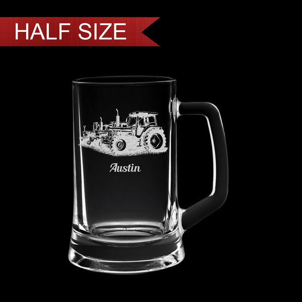 Small 14oz Engraved Tankard Glass In Gift Box - Image & Text - Image & Text (Images F1 - J6)