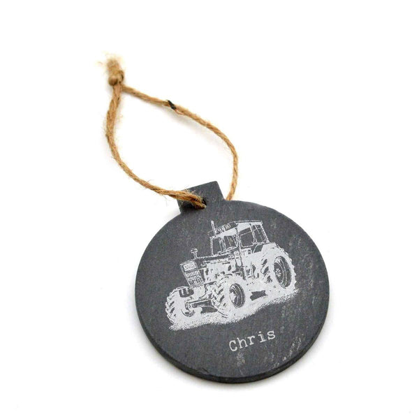 Engraved Slate Christmas Tree Bauble - Image & Text (Images A1 - E8)