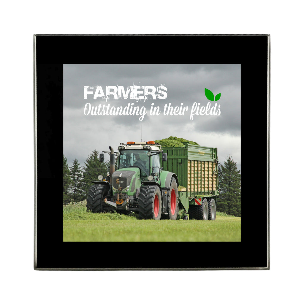 Glass Coaster - Fendt at Silage 'Farmers. Outstanding in their fields'