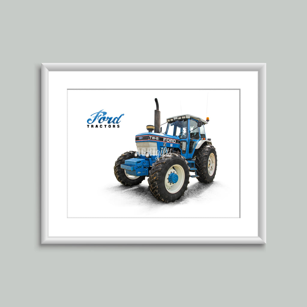 8x6 Mounted Print - 'Ford Tractors' Ford TW-15