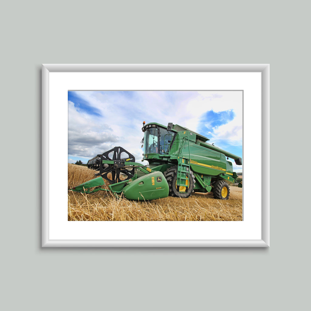 8x6 Mounted Print - Green Combine