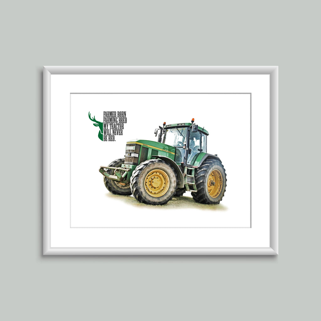 8x6 Mounted Print - 'Farmer Born' 7710