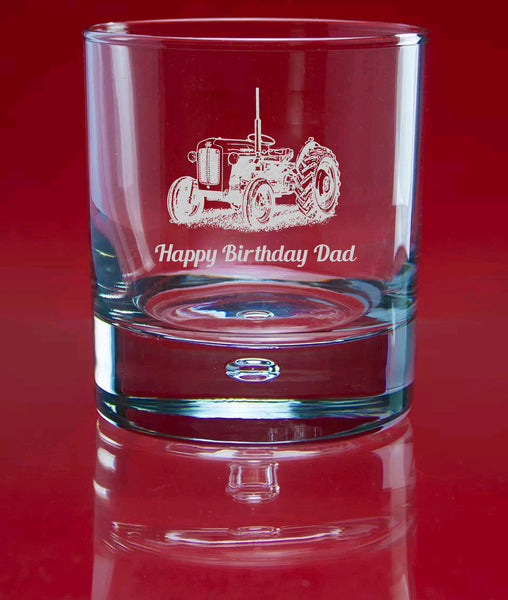 Engraved Whisky Bubble Glass In Gift Box - Image & Text (Images F1 - J6)