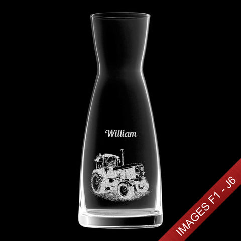 Engraved 1.08ltr Infinity Wine Decanter/Carafe - Text & Image (Images F1 - J6)
