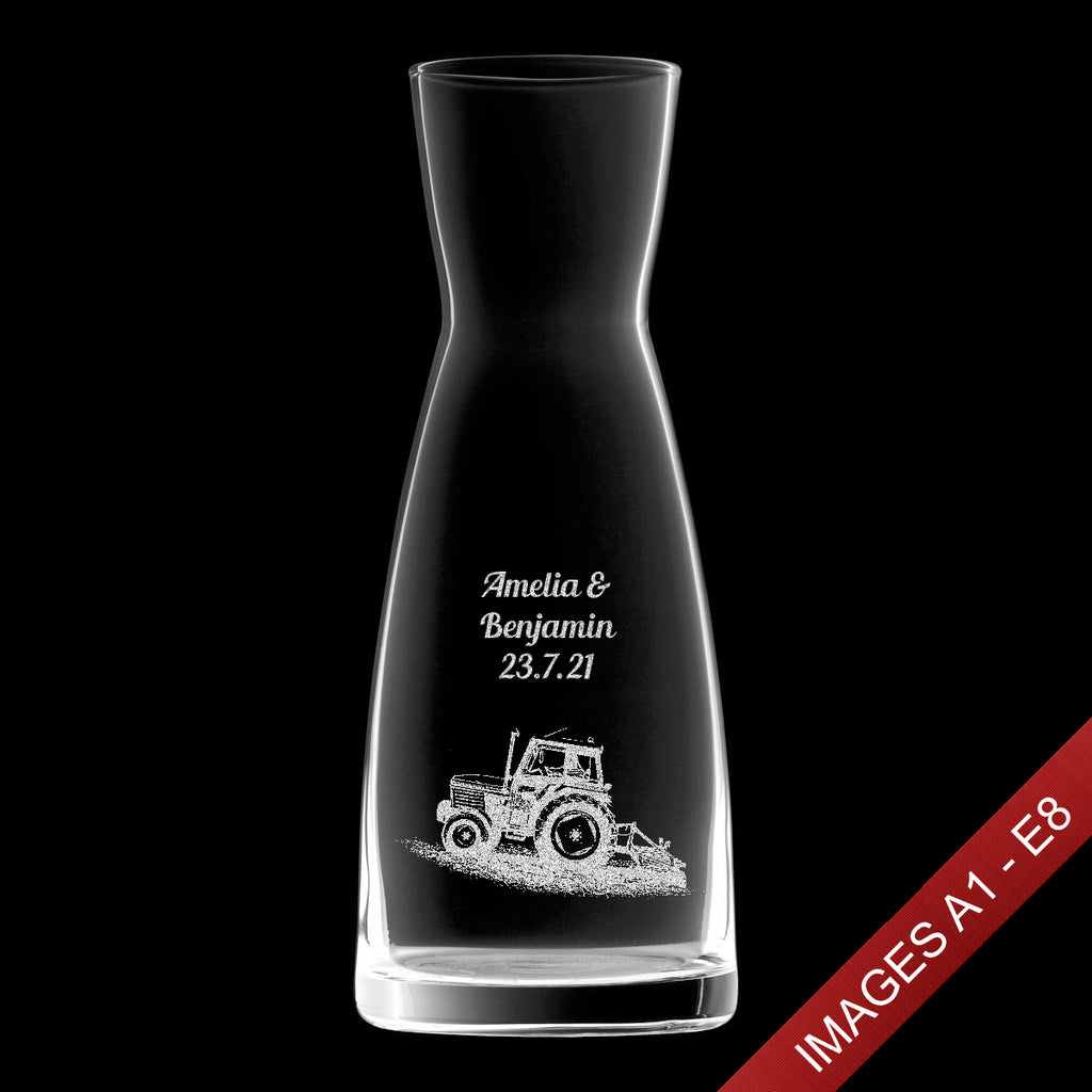 Engraved 1.08ltr Infinity Wine Decanter/Carafe - Text & Image (Images A1-E8)