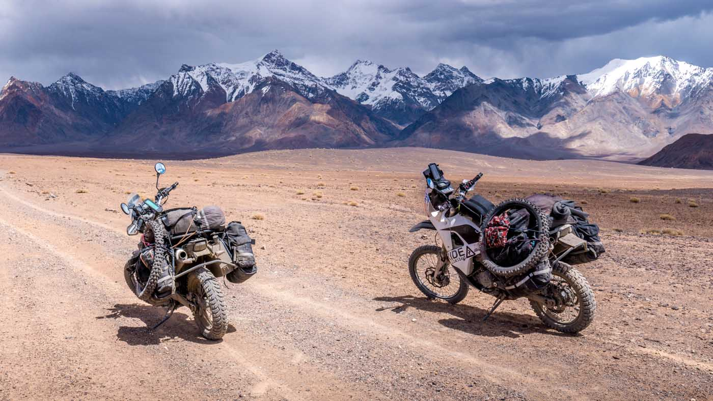 How we chose and prepared our motorcycles to ride the world