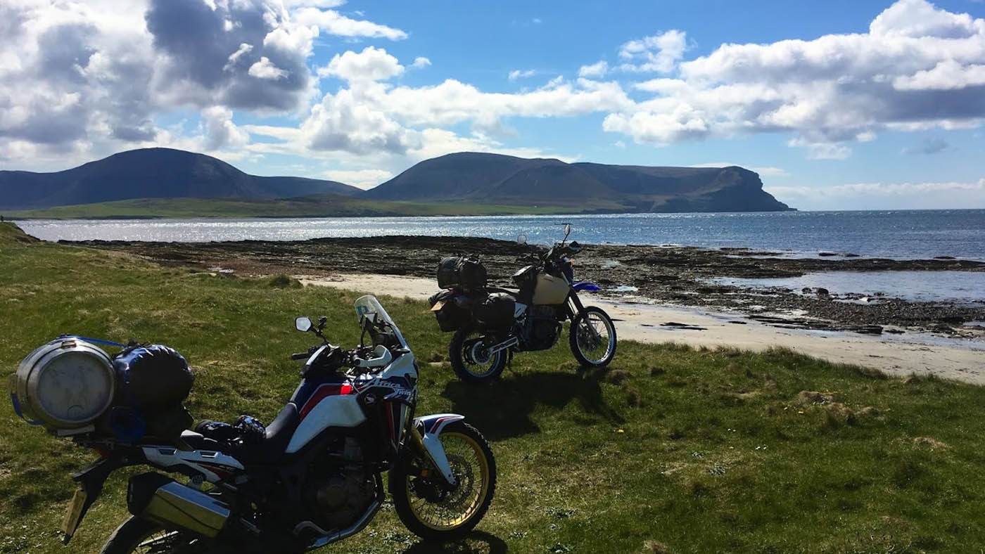 Touring Shetland on the Africa Twin