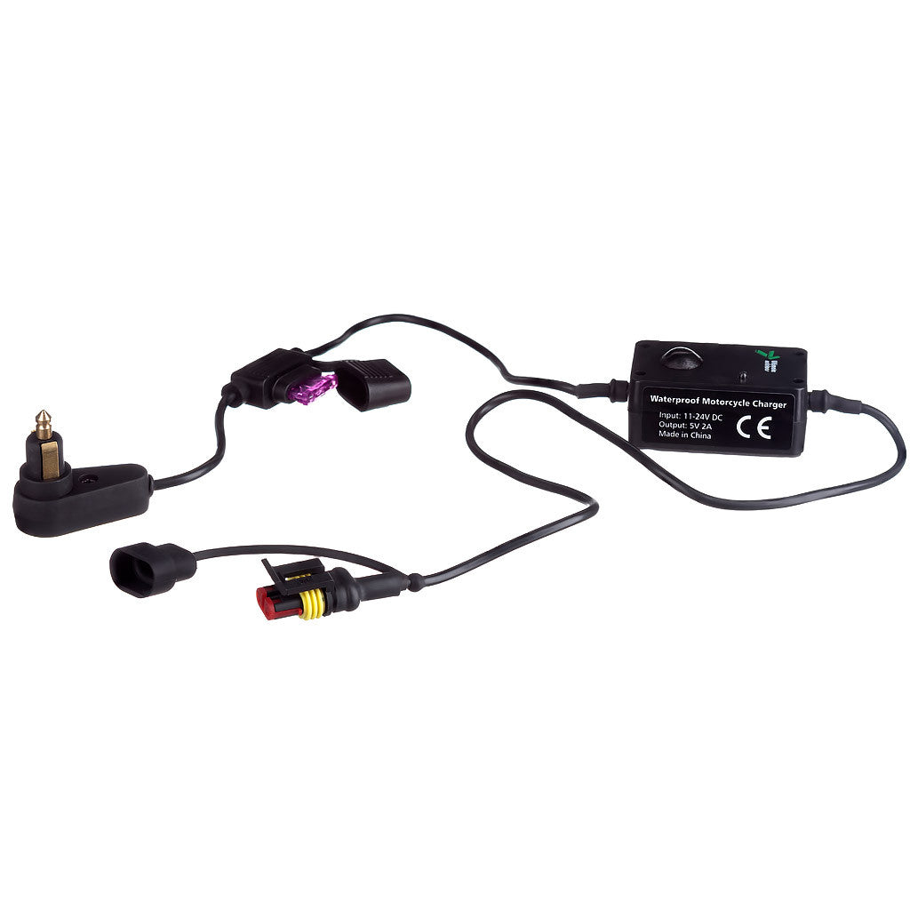 2 AMP Motorcycle 12v Din / Hella 5v Accessory Charger Kit
