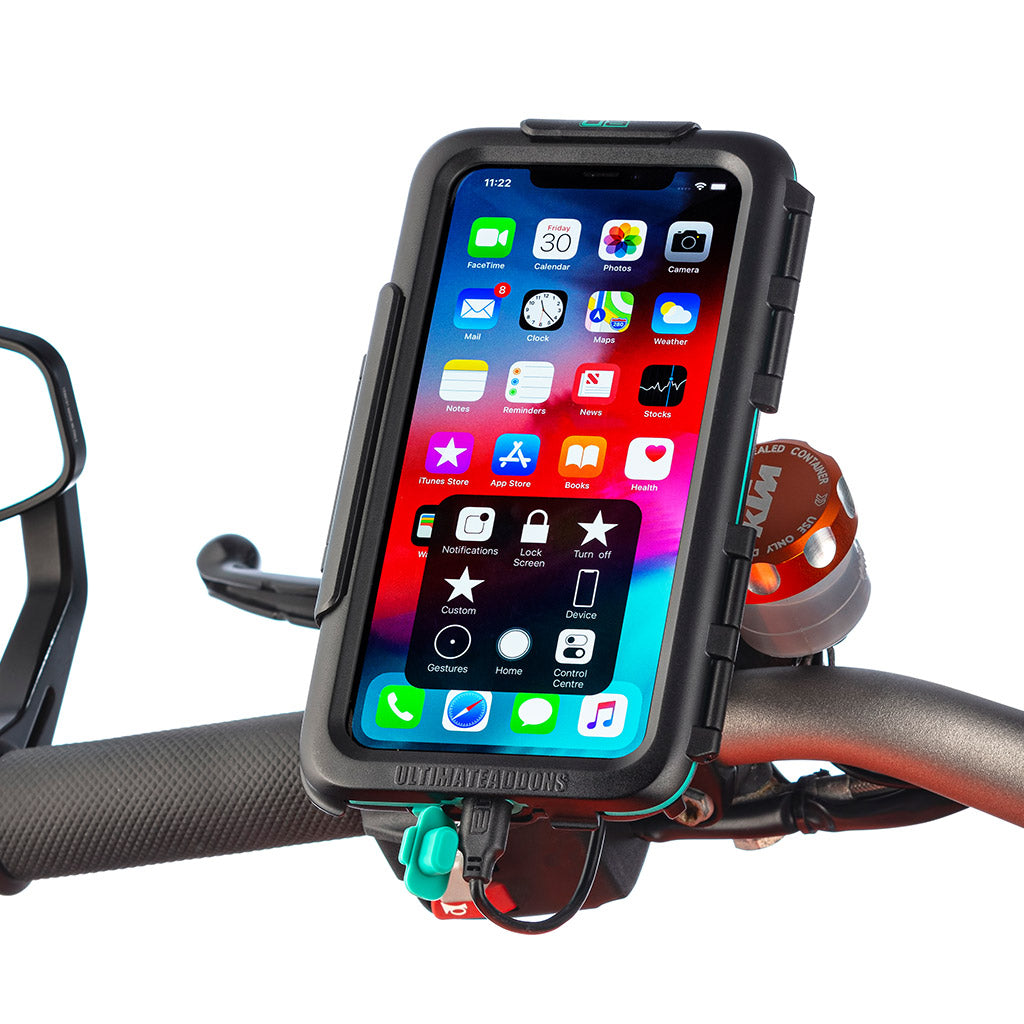 Apple  iPhone SE 2020 Waterproof Case Motorcycle Mirror Mount Kits - Ultimateaddons