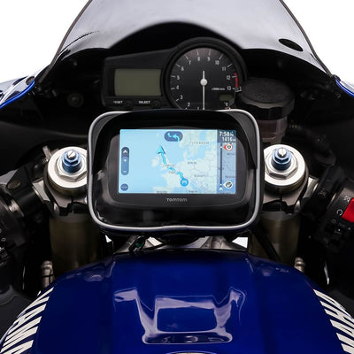 Ultimateaddons Motorbike Centre Fork Stem Yoke Mount with GPS Visor Case - Ultimateaddons