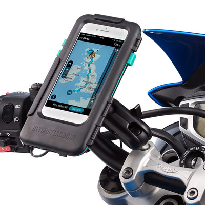 Motorcycle Handlebar Clamp Bolt Tough Waterproof Case Mount Kit - Apple iPhones