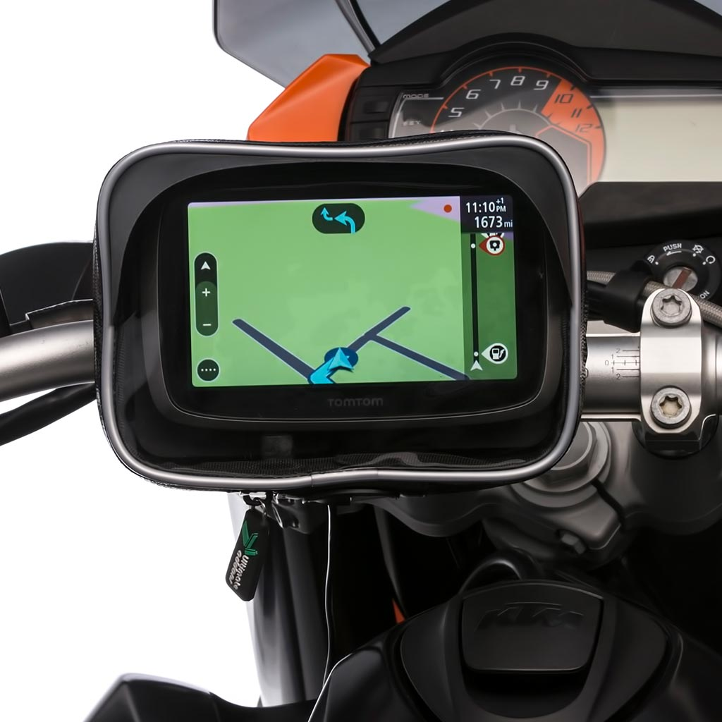 Ultimateaddons Motorcycle Waterproof GPS Case with Metal U Bolt Mount