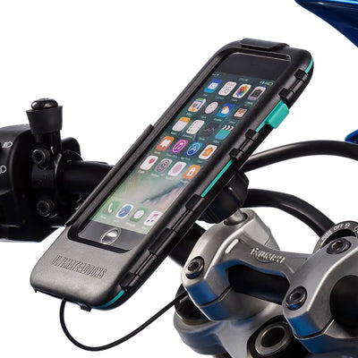 Motorcycle Tough Wateproof Satnav Case Top Clamp Mount Kit Apple iPhone SE 2 - Ultimateaddons