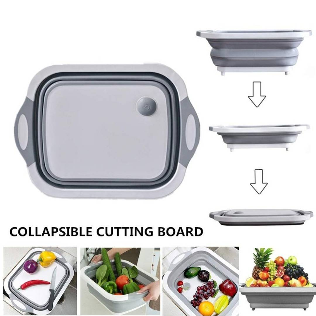 Collapsible Multi-Function Kitchen Basket & Chopping Board