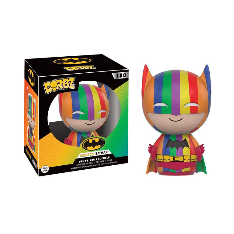 #180 Funko Dorbz - RAINBOW BATMAN - DC Comics Series Figure ** RARE ** UK Stock
