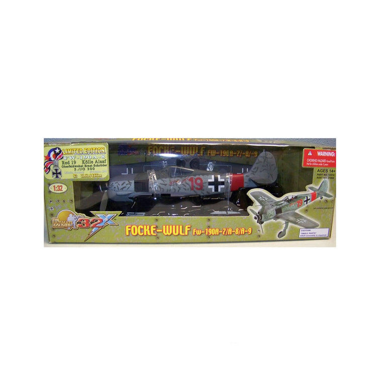 1:32 Focke-Wulf FW-190A-8 Red 19 by 21st century toys NEW & SEALED