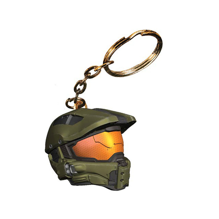 Halo 4 Master Chief Helmet KEY CHAIN RING - New & Sealed & in UK Series 1