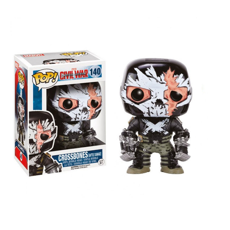 #140 CROSSBONES BATTLE DAMAGE Funko Pop Captain America Civil War Vinyl Figure